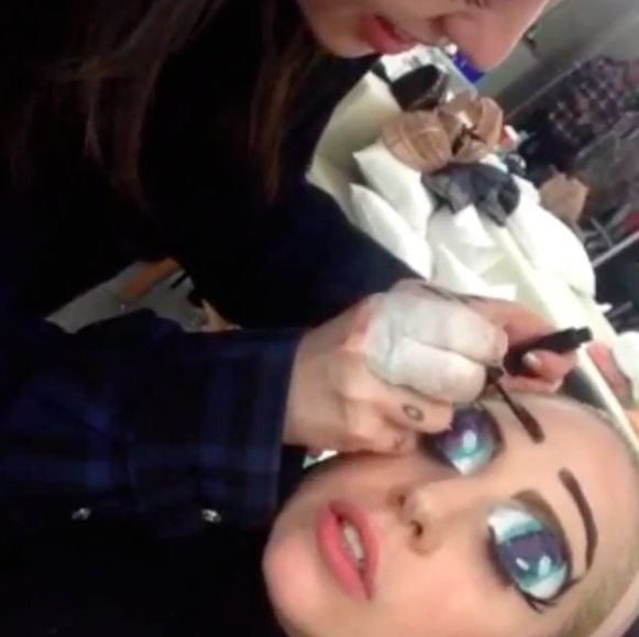 Lady Gaga's Eyes Had A Wild Weekend