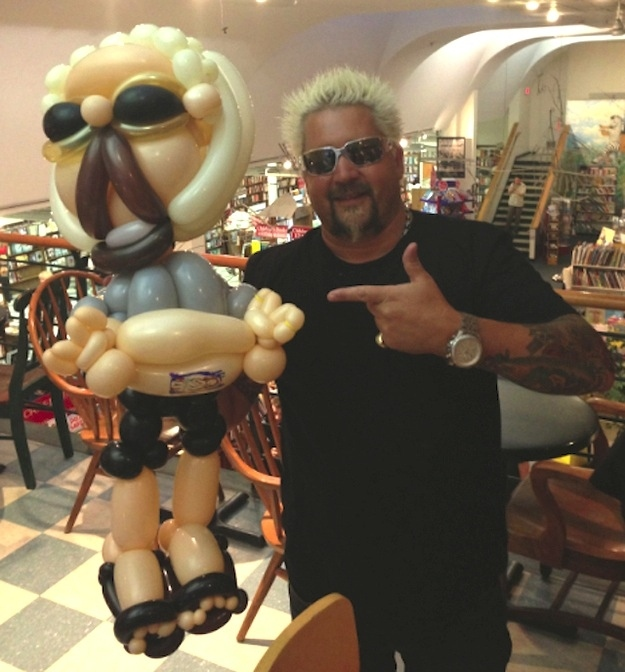 Guy Fieri Poses With A Balloon Version Of Himself