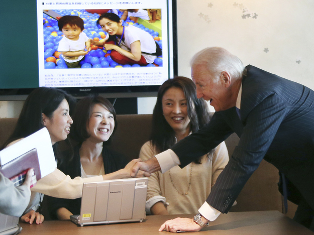"Joe Biden Asked Japanese Women, ""Do Your Husbands Like You Working Full Time?"""