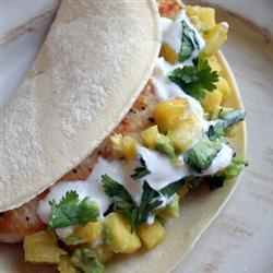 Healthy Main Dishes: Soft Mahi Mahi Tacos with Ginger-Lime Dressing