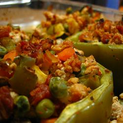 MyPlate Recipes: Stuffed Peppers with Turkey and Vegetables