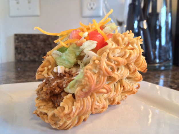 In New Feat Of Miraculous Culinary Achievement, Someone Made A Ramen Taco