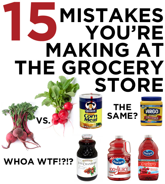 15 Mistakes You're Making At The Grocery Store