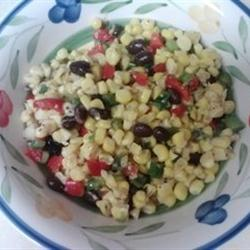 Low-Fat Recipes: Spicy Corn and Black Bean Salad