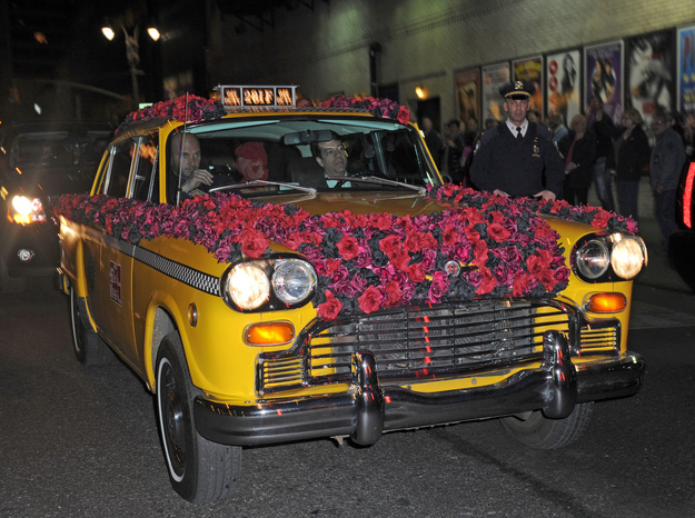 Lady Gaga Arrives To Roseland Ballroom Nearly Naked And Covered In Roses