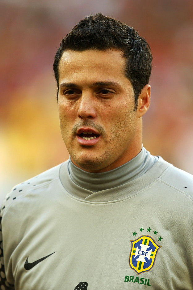 Brazil's Goalkeeper Julio Cesar Looks An Awful Lot Like Buzz Lightyear