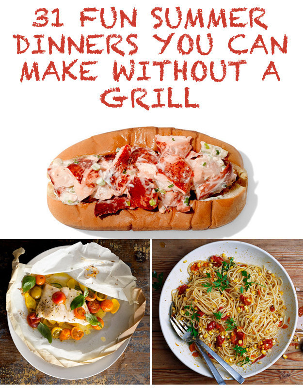 31 Fun Summer Dinners You Can Make Without A Grill