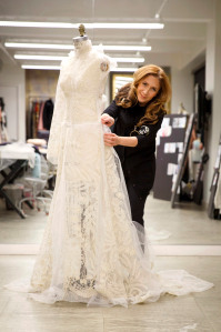 Celebrity wedding dress designer sues over showroom fire
