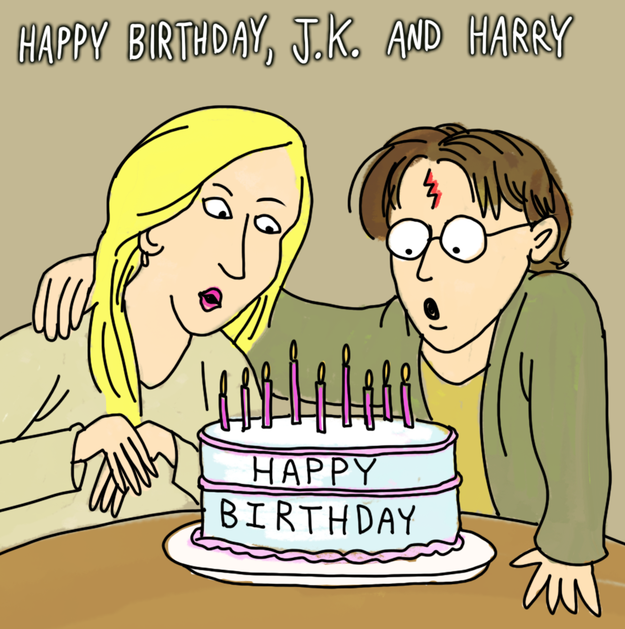 Happy J.K. Rowling And Harry Potter Birthday Day!