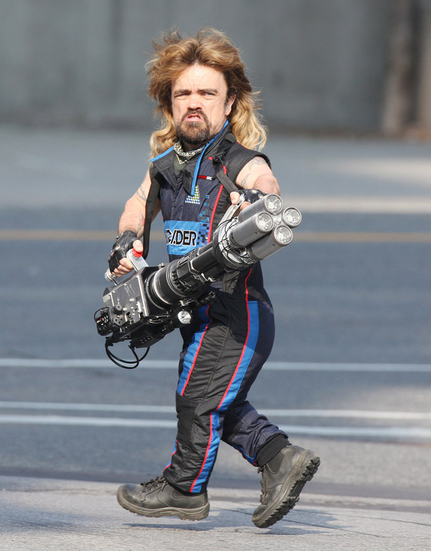 Peter Dinklage With A Mullet And Laser Gun Are The Photos You Needed Today