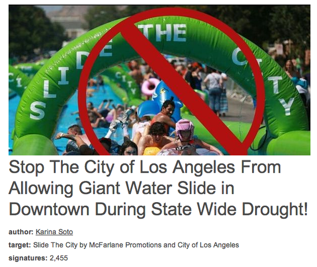 L.A. Residents Question Plans For A Giant Waterslide During Drought