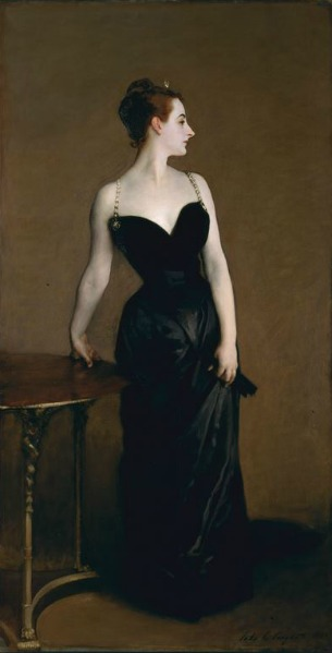 "Fashion Inspired by Art: John Singer Sargent's ""Portrait of Madame X"""