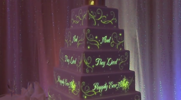 Animated Disney Magic Can Now Be Projected Onto A Wedding Cake