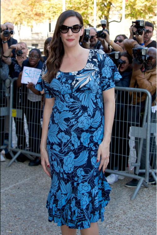 Mom-To-Be Liv Tyler: Floral In France