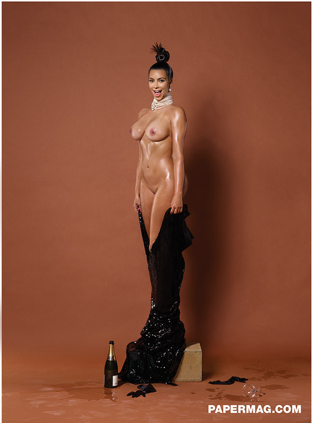 Here is Another Photo Of Kim Kardashian In Paper Mag, This Time With Full Frontal