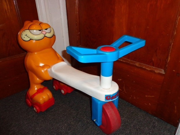 Here Is A Fun Garfield Riding Toy For Your Child