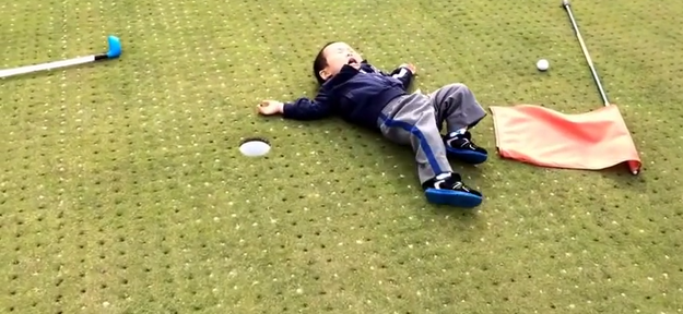 This Toddler's Tantrum Is How We All Feel After Missing A Putt