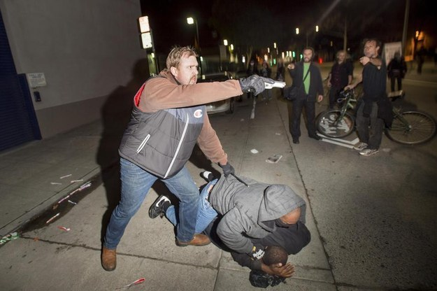 Plainclothes Officers Were Attacked Before Pointing Guns At Oakland Protesters, Officials Say