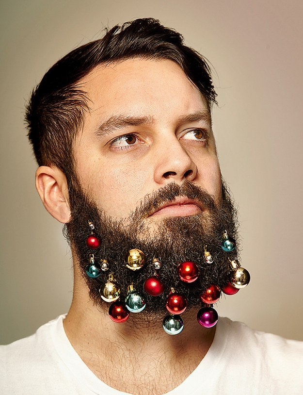 These Guys Created Beard Ornaments To Decorate Your Face For The Holidays